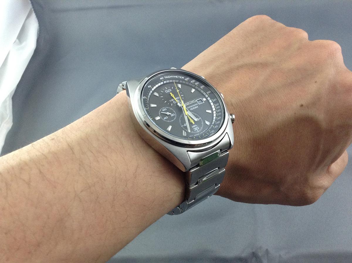 セイコー腕時計装着