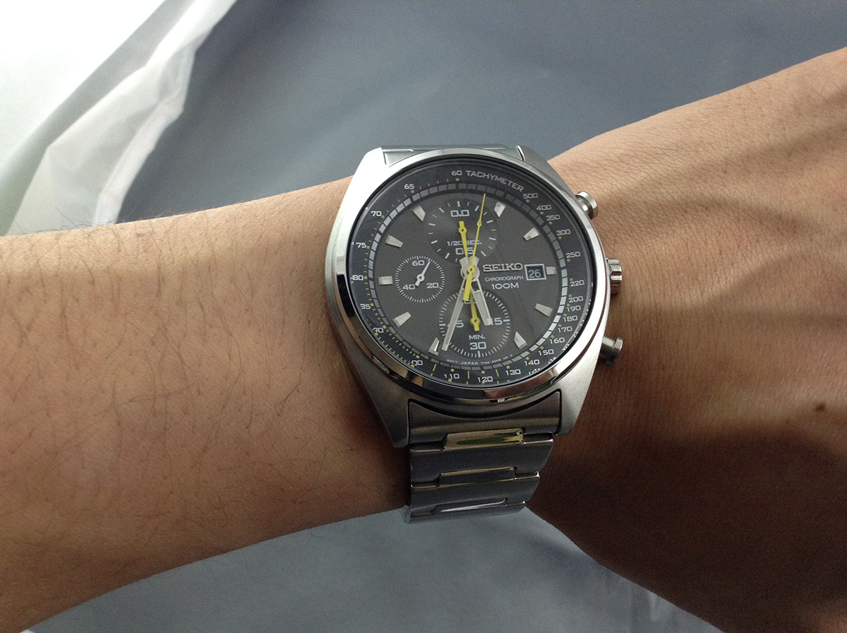 セイコー腕時計装着1